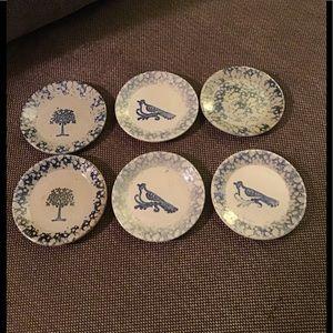 Small handmade clay plates